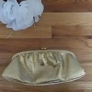VINTAGE Gold Foil Clutch